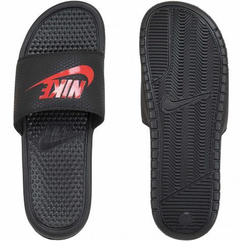 Nike Badelatschen Benassi Just Do It schwarz/rot