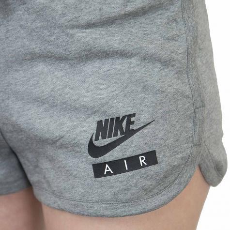 Nike Damen Shorts Air French Frottee grau/schwarz