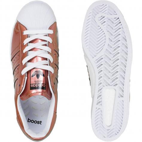 Adidas Originals Damen Sneaker Superstar kupfer/weiß