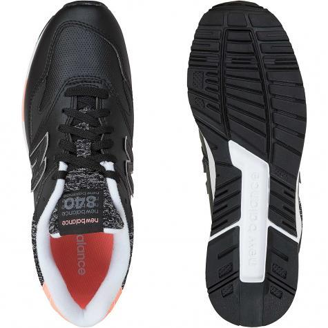 New Balance Damen Sneaker 840 Synthetik/Wildleder/Textil schwarz