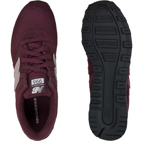 New Balance Damen Sneaker Wildleder/Textil 996 weinrot