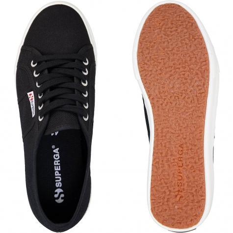 Superga Cotu Canvas Damen Sneaker schwarz/weiß