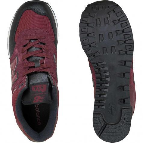 New Balance Sneaker 574 Leder/Mesh/PU weinrot