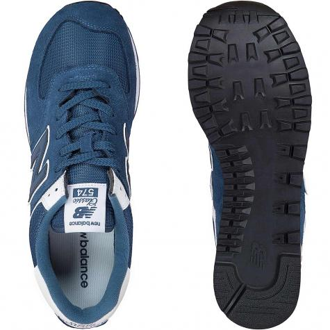 New Balance Sneaker 574 Wildleder/Mesh blau