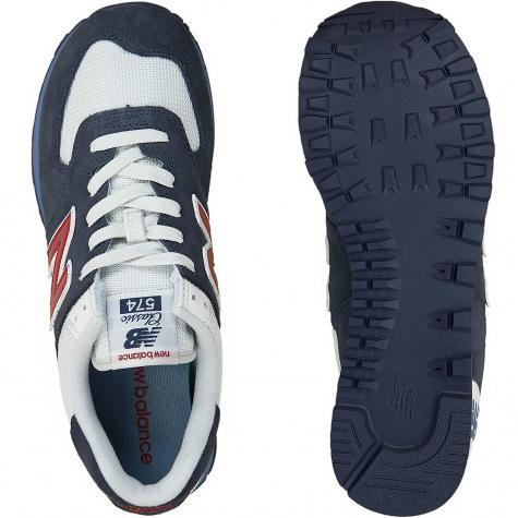New Balance Sneaker 574 Wildleder/Textil dunkelblau