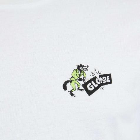 Globe T-Shirt Back Stabber weiß