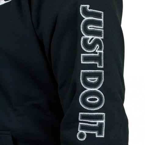 Nike Zip-Hoody Fleece GX Swoosh schwarz/weiß