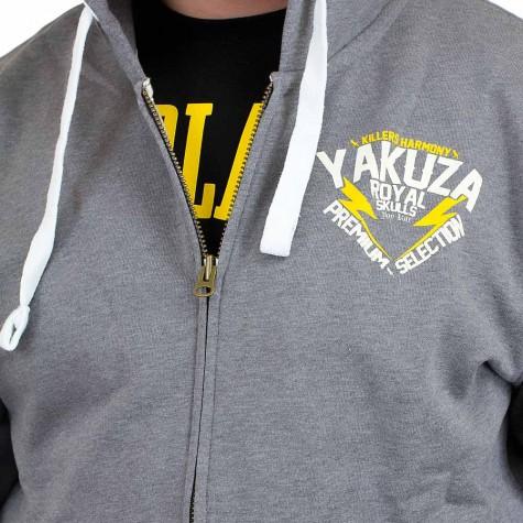 Yakuza Premium Zip-Hoody 1927 grau