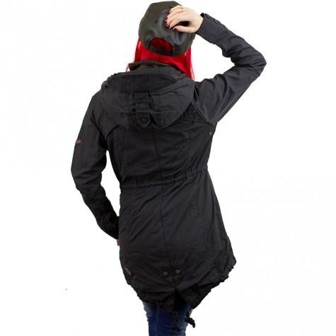 khujo damen jacke kulu with inner jacket schwarz khujo 1021co161j art. Black Bedroom Furniture Sets. Home Design Ideas