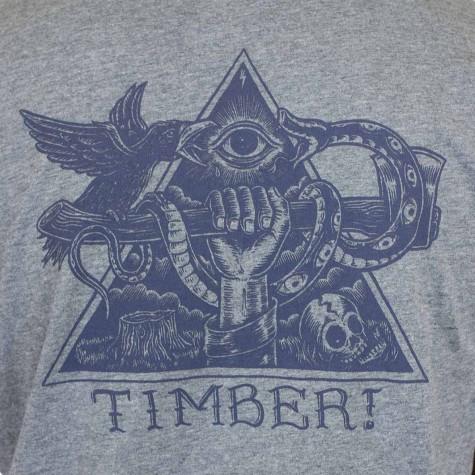 Element T-Shirt Triangle grau meliert