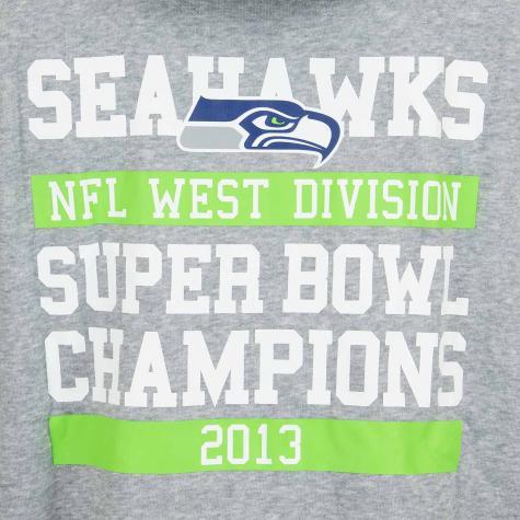 New Era Hoody NFL Large Graphic Seahawks grau