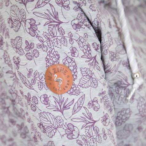 Mazine Damen Hoody Taldora grau/lila