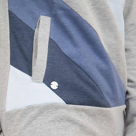 Mazine Damen Hoody Tasty Light grau/dunkelblau