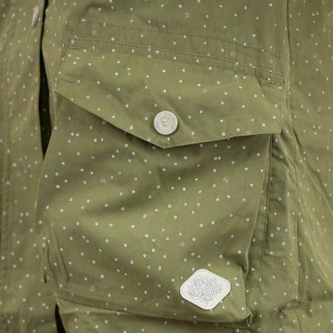 Ragwear Damen-Jacke Clancy Dots oliv