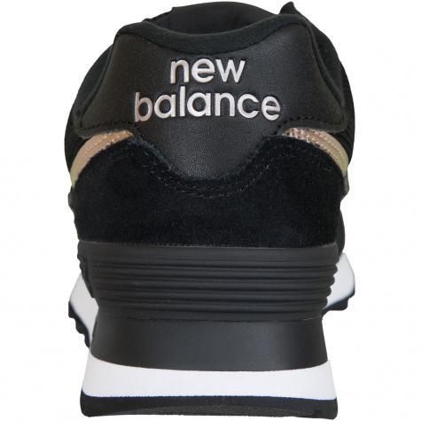 New Balance Damen Sneaker 574 Leder/Textil schwarz