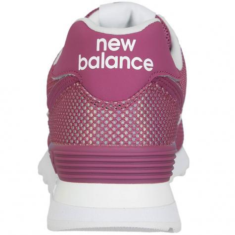 New Balance Damen Sneaker 574 Textil/Synthetik pink