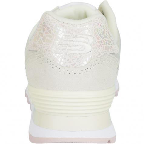 New Balance Damen Sneaker WL574 B Suede/Mesh weiß