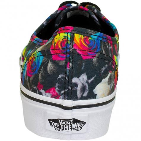 Vans Damen-Sneaker Authentic Rainbow Floral schwarz/weiß