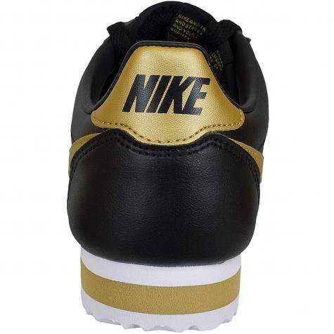 Nike Damen Sneaker Classic Cortez Leather schwarz/gold