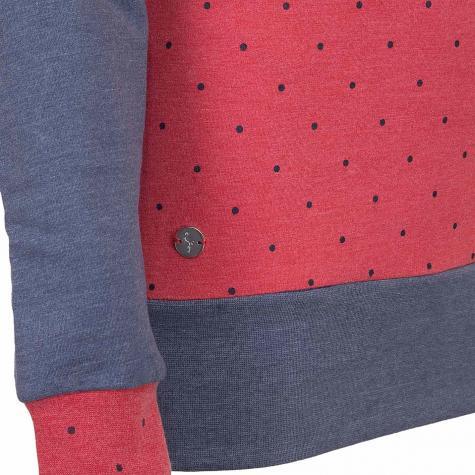 Mazine Damen Sweatshirt Tanami dunkelblau/rot