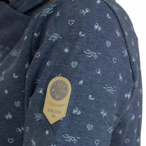 Ragwear Damen Sweatshirt Afra Organic dunkelblau meliert