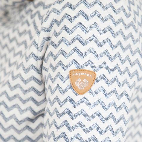 Ragwear Damen Sweatshirt Angel Zig Zag blau