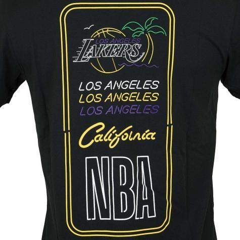 New Era T-Shirt NBA Neon Lights L.A.Lakers schwarz