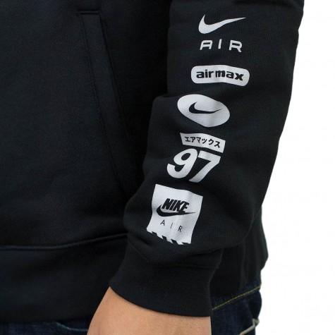 Nike Hoodie Fullzip schwarz/weiß