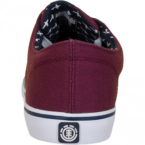 Element Sneaker Topaz C3 napa weinrot