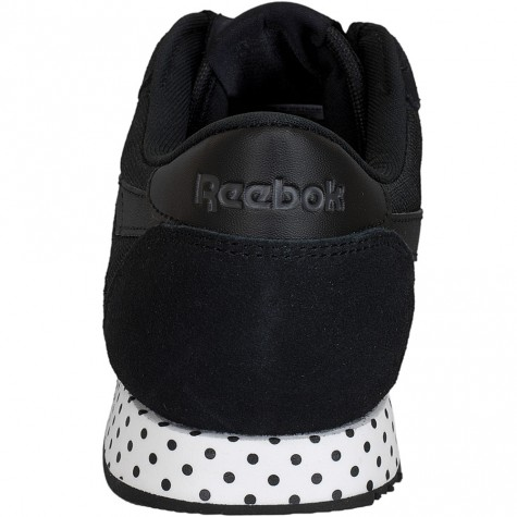 reebok damen sneaker classic nylon core schwarz wei. Black Bedroom Furniture Sets. Home Design Ideas
