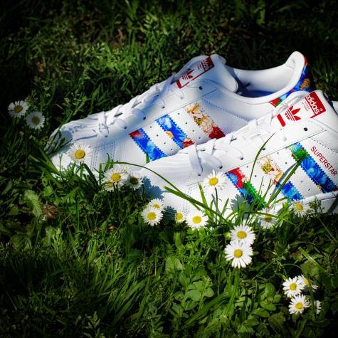 Adidas Originals Damen Sneaker Superstar weiß/mehrfarbig