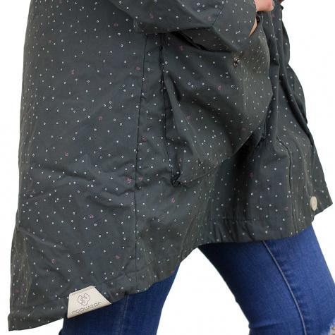 Ragwear Damen-Jacke Clancy Dots dunkelgrau