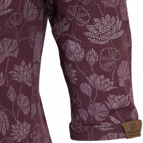 Ragwear Kleid Tanya Flowers dunkelrot
