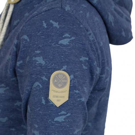 Ragwear Damen-Hoody Beat Print Organic indigo