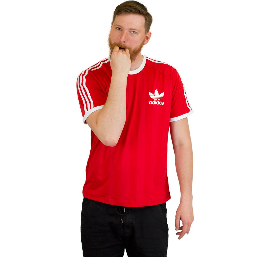 Adidas Originals T-Shirt California rot/weiß