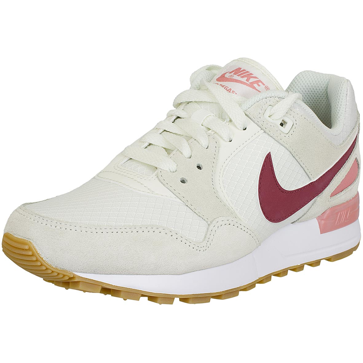 nike damen sneaker air pegasus 89 beige rot hier bestellen. Black Bedroom Furniture Sets. Home Design Ideas