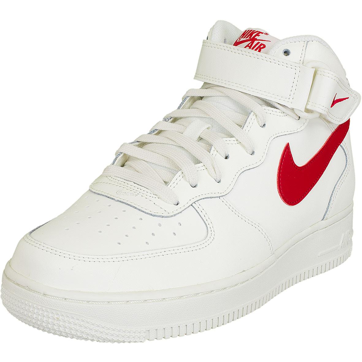 nike air force 1 weiß rot