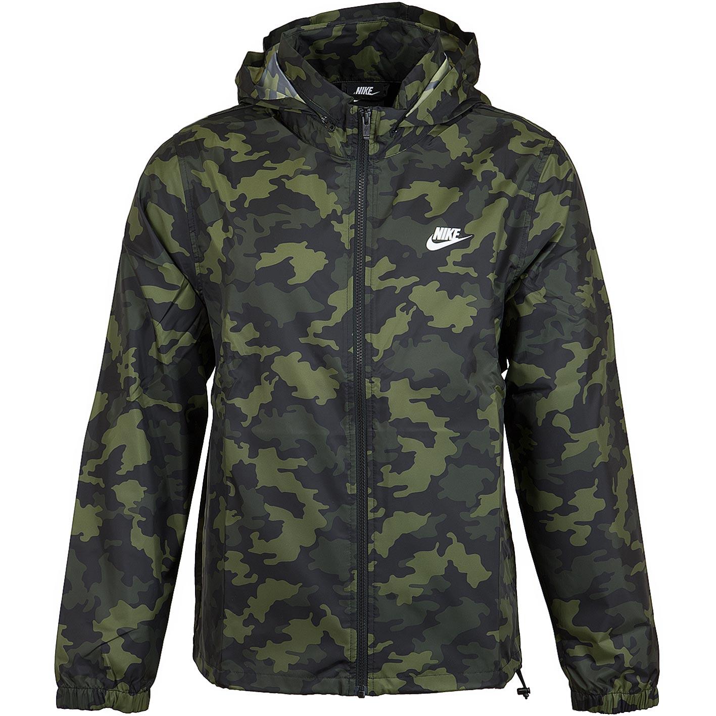 Nike Jacke Camo grünweiss