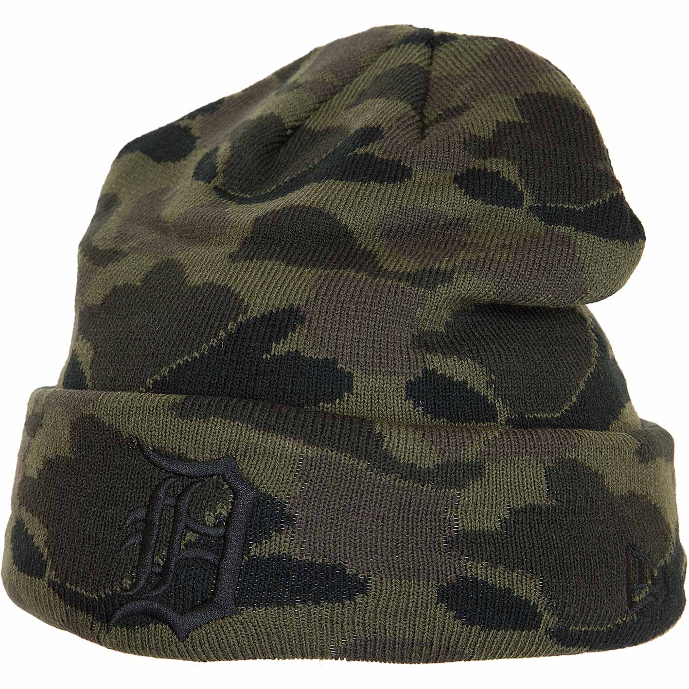 quality design 04b01 0fcc2 New Era Beanie Camo Cuff Knit Detroit Tigers Camouflage Hier