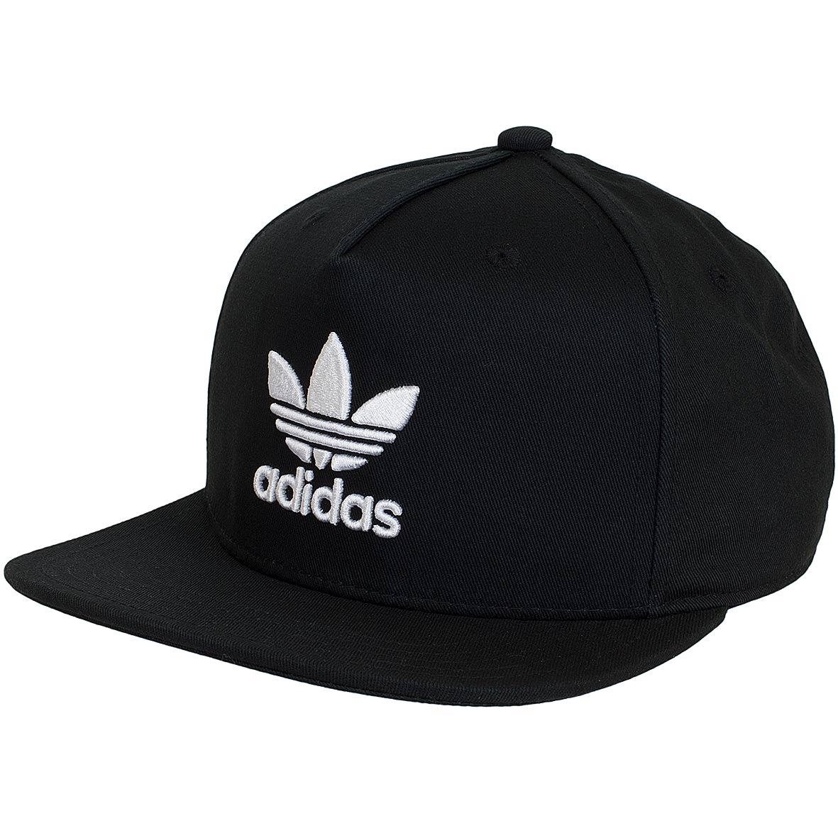 adidas originals snapback cap ac trefoil flat schwarz wei. Black Bedroom Furniture Sets. Home Design Ideas