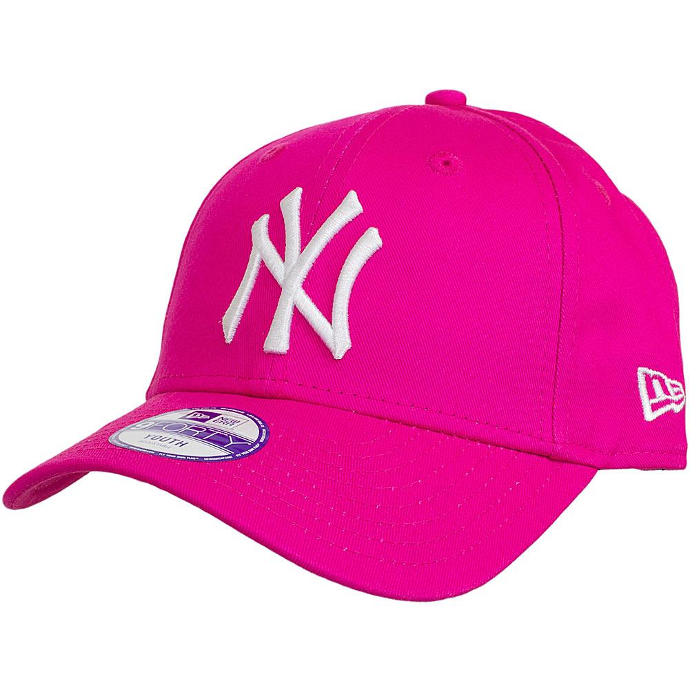 New Era 9Forty Youth Cap 940 MLB Basic NY Yankees Pink