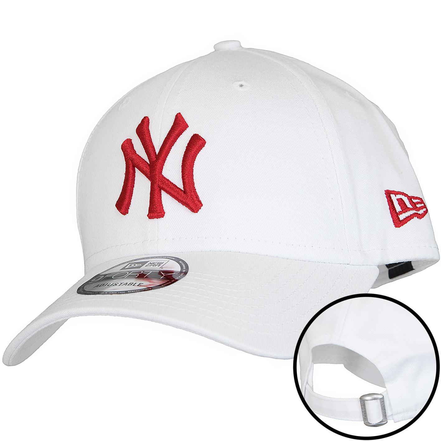designer fashion 77113 80cbc New Era 9Forty Snapback Cap MLB League Essential NY Yankees weiß rot