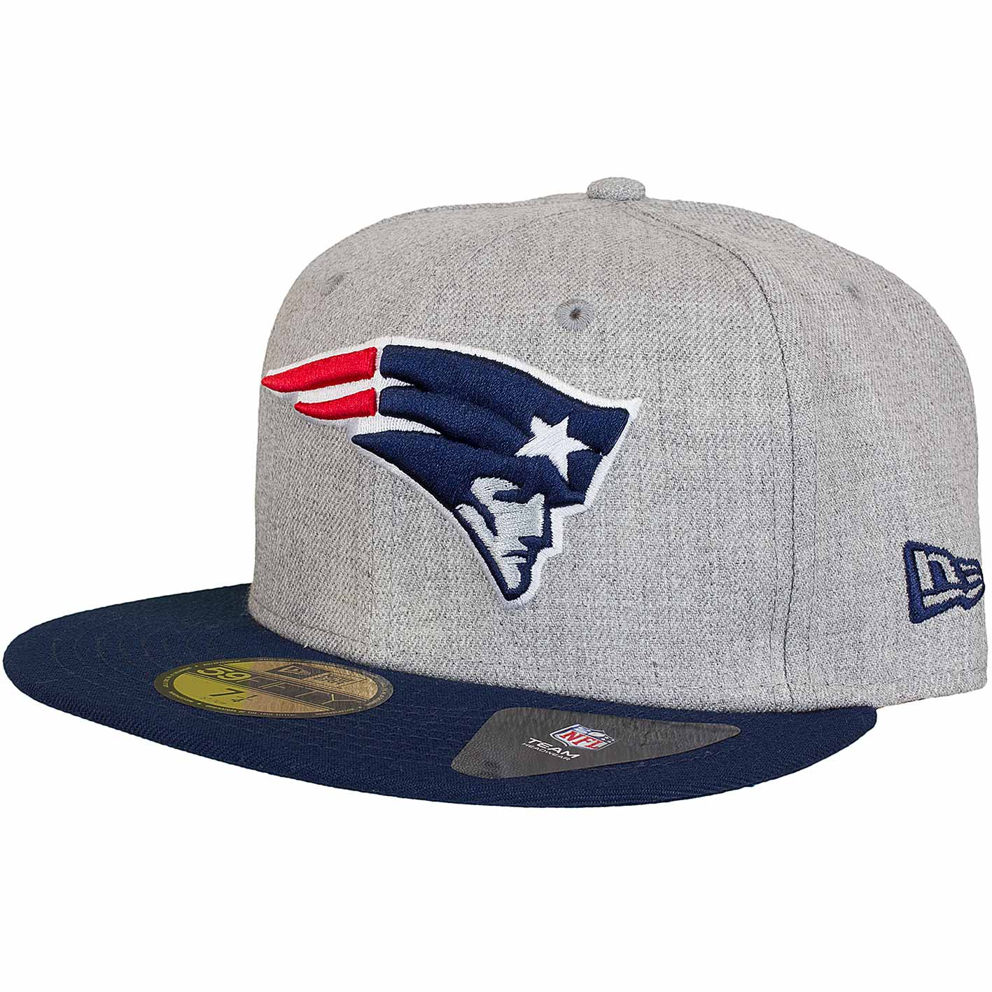☆ New Era 59Fifty Fitted Cap Heather New England Patriots grau ... bfbb65c11ae