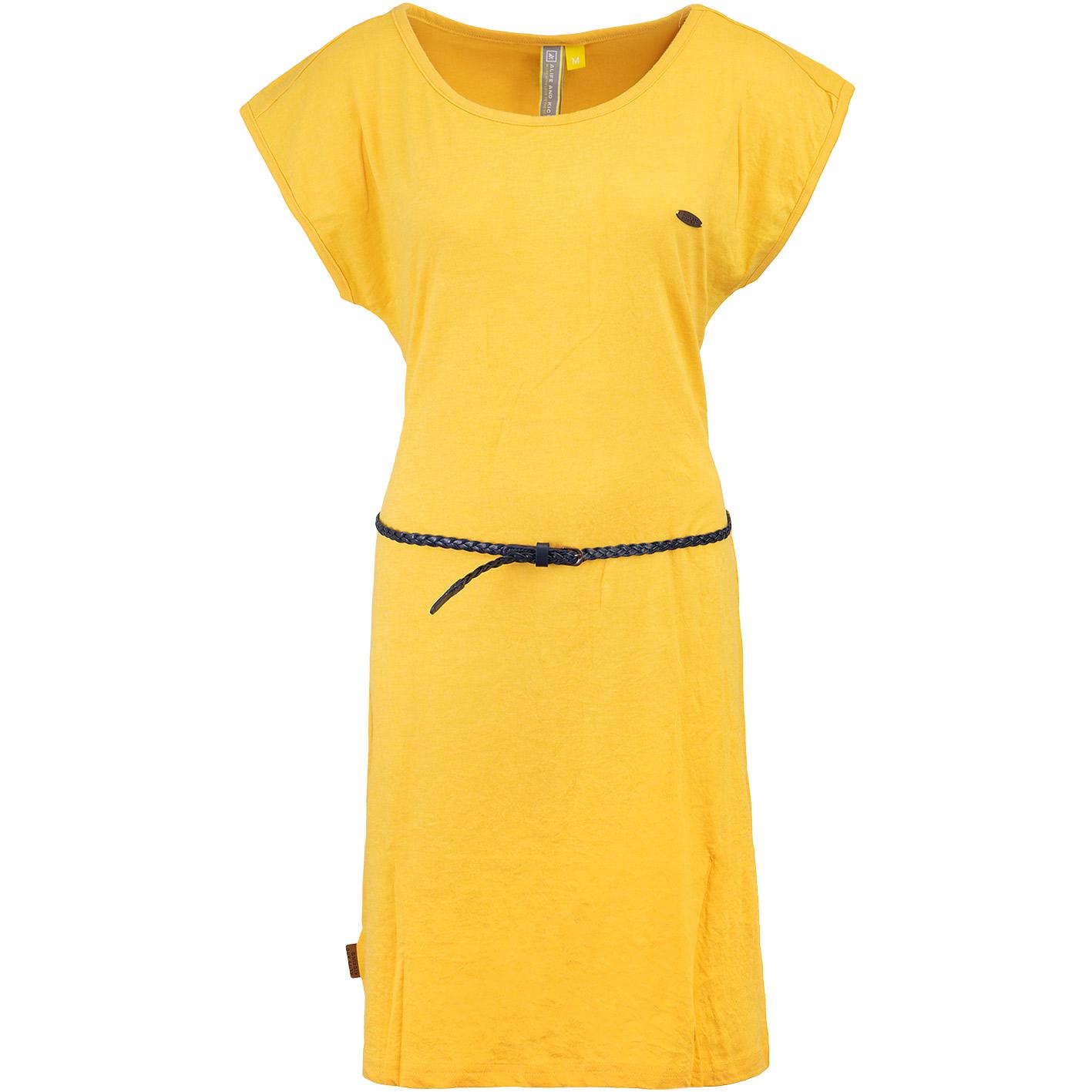 Alife Kickin Elli Kleid Gelb Hier Bestellen
