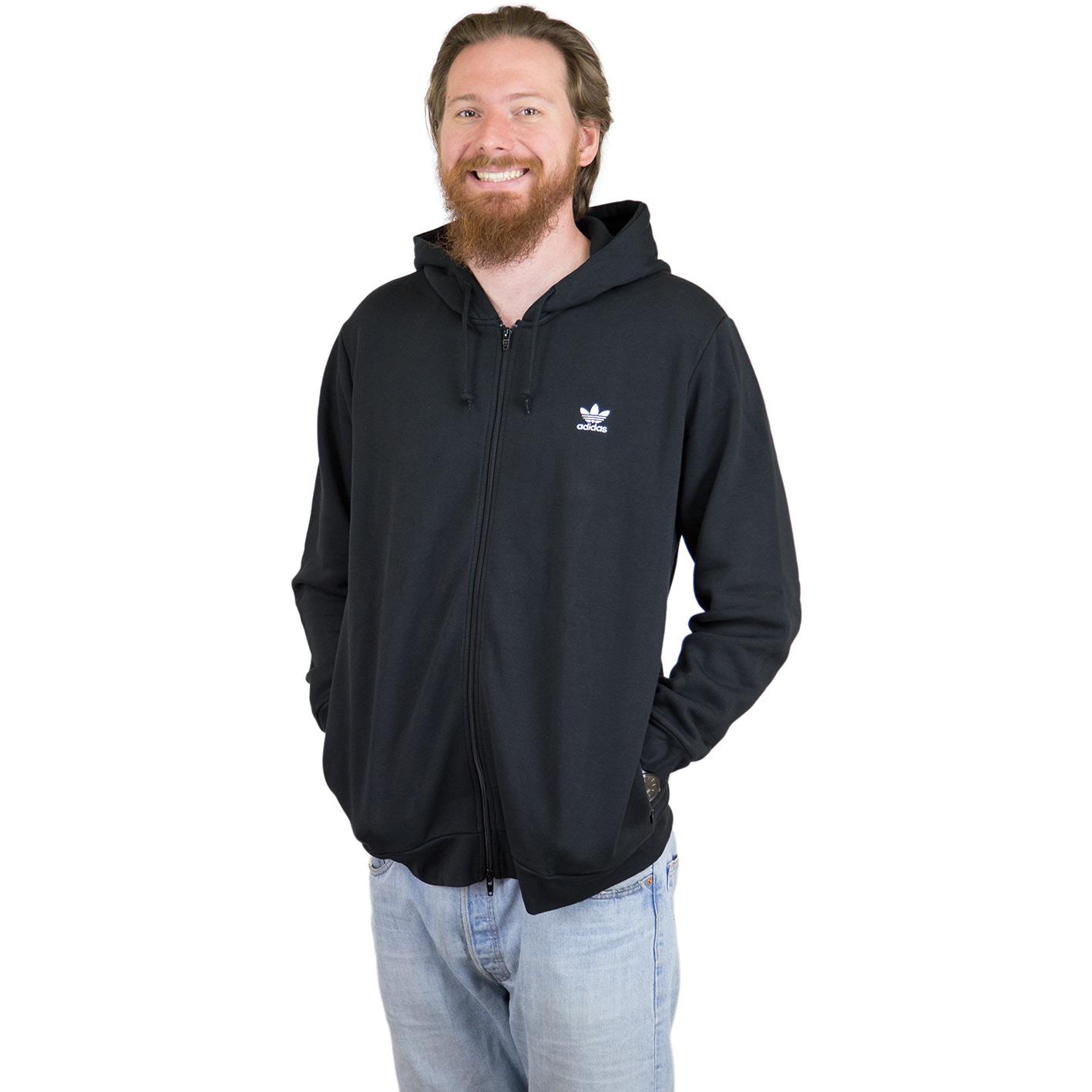 Adidas Originals Zip Hoody Trefoil Fleece schwarz