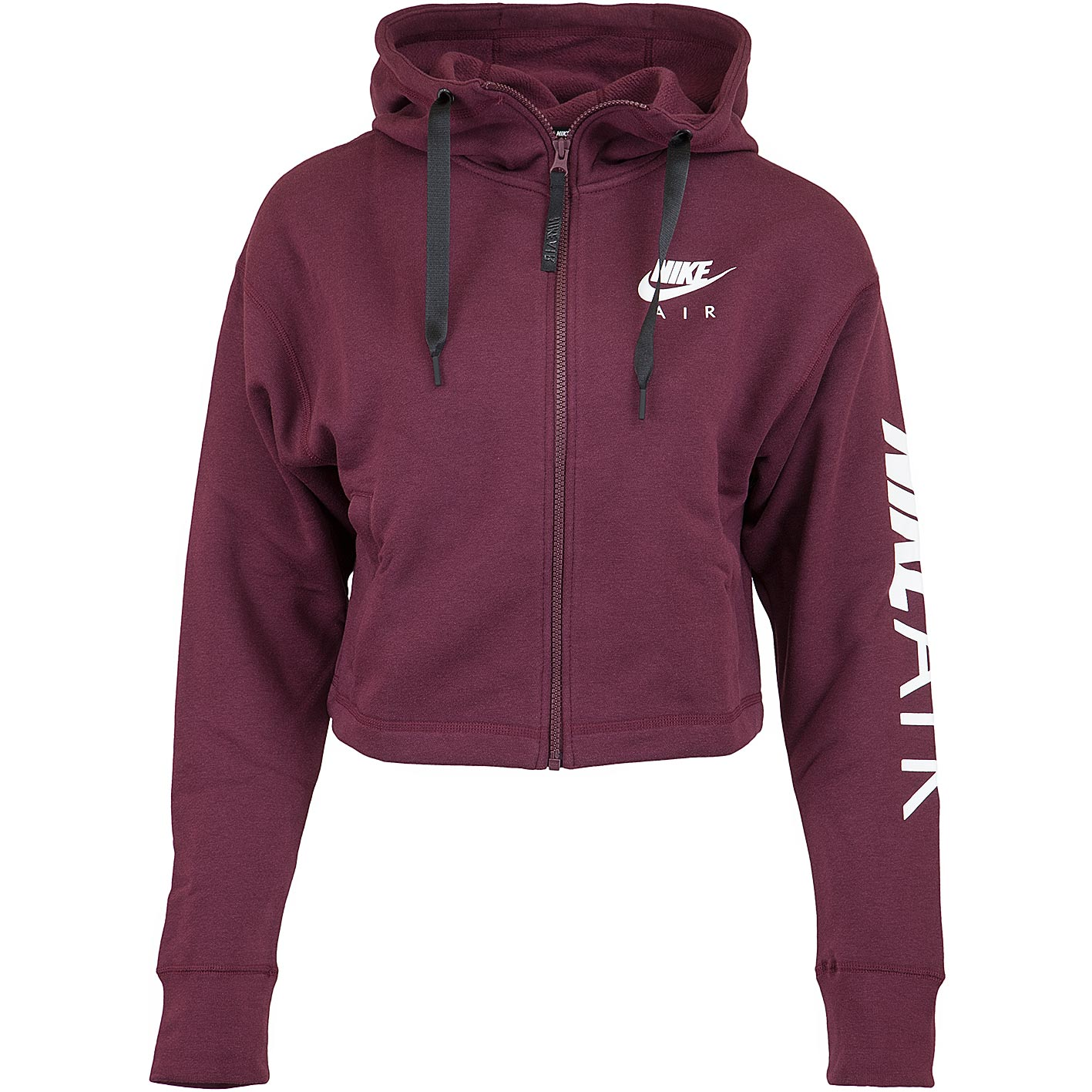 Nike Damen Zip Hoody Air Fleece maroonweiß