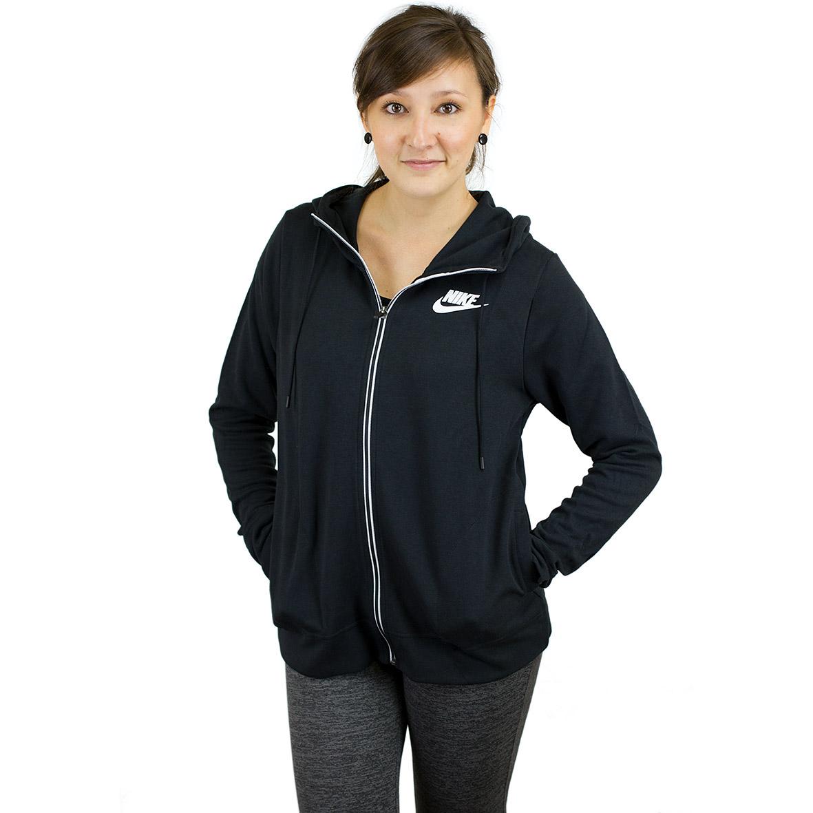 46c40edfaaed ☆ Nike Damen Zip-Hoody Advance 15 schwarz weiß - hier bestellen!