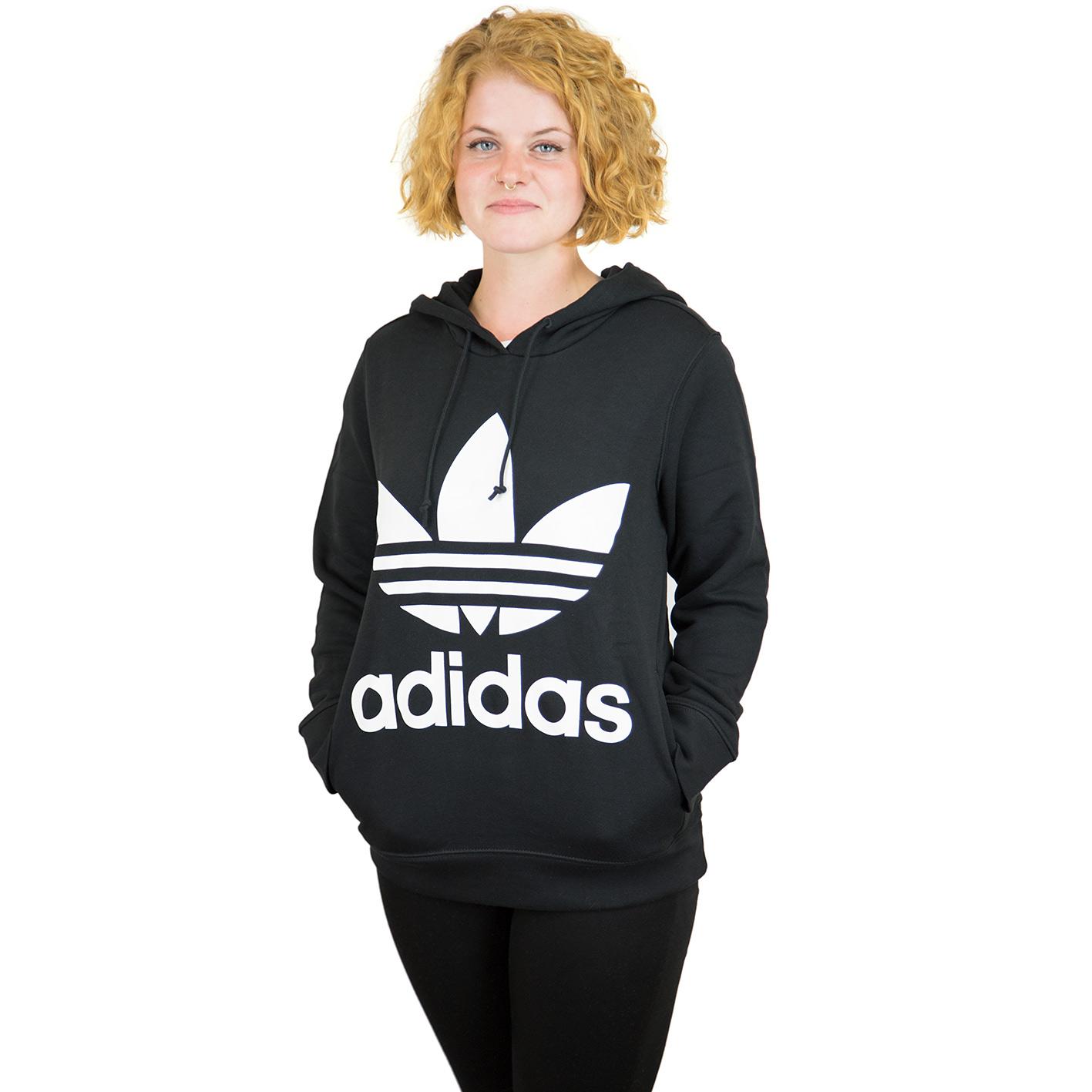 adidas Originals Trefoil Kapuzenpullover für Damen Schwarz