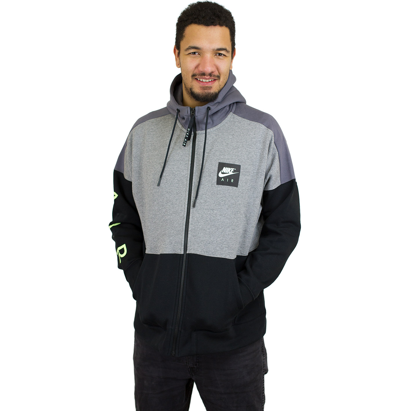 Nike Sportswear Kapuzensweatjacke AIR HOODIE FULLZIP grau