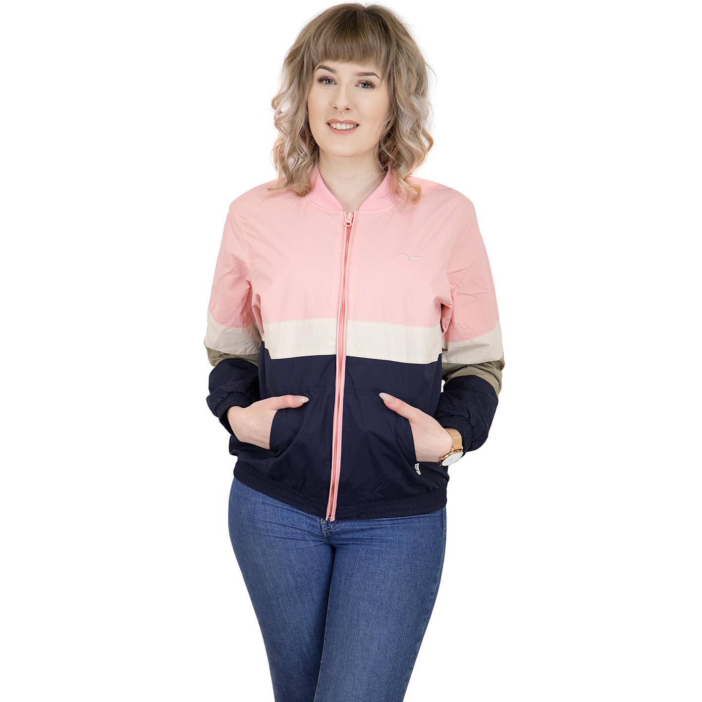 promo code 0ae13 2d6ea Cleptomanicx Damen Jacke Sailor rosa/weiß/dunkelblau